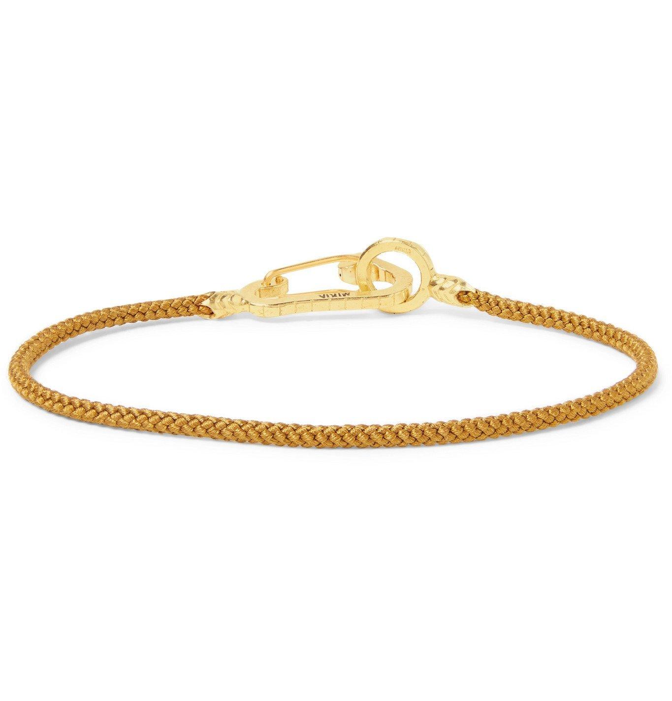 Photo: Mikia - Cord and Gold-Tone Bracelet - Brown