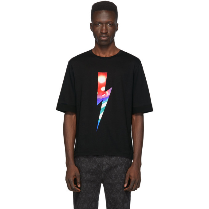 Photo: Neil Barrett Black City Lights Lighting Bolt T-Shirt