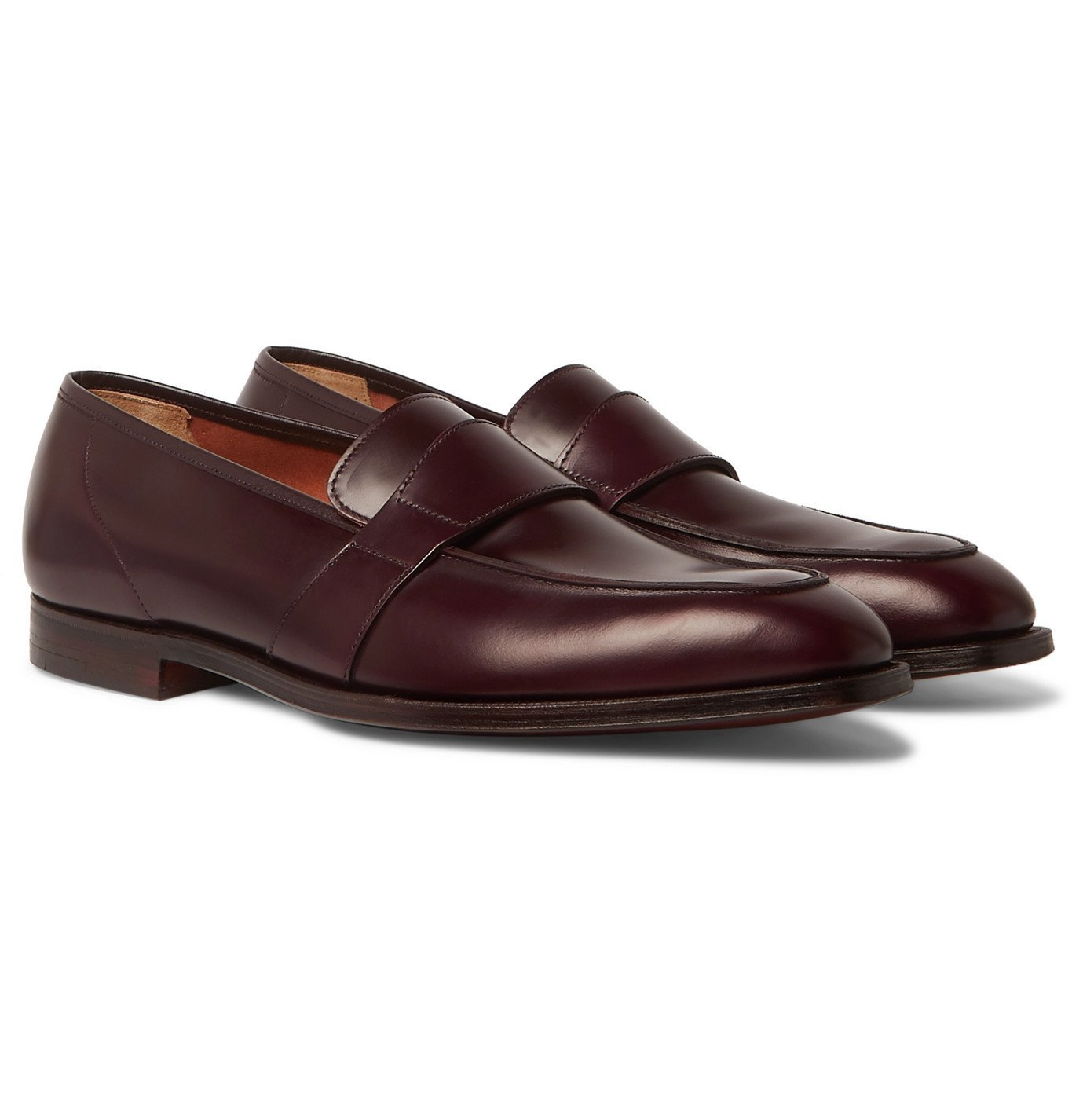 Photo: George Cleverley - Owen Leather Penny Loafers - Burgundy