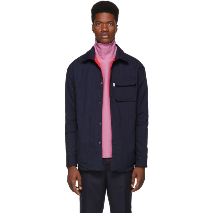 Photo: Kenzo Navy Cotton Quilted Shirt