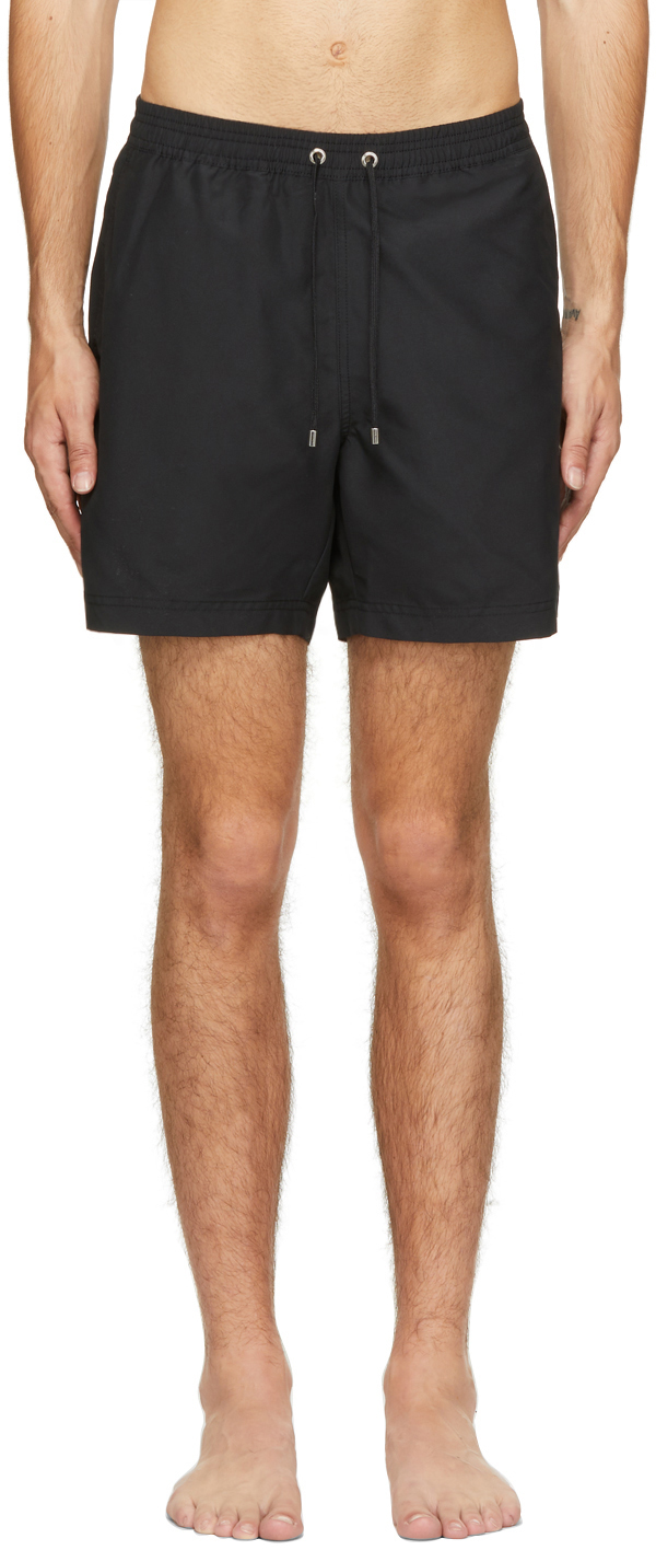 Sunspel Black Upcycled Marine Plastic Drawstring Swim Shorts