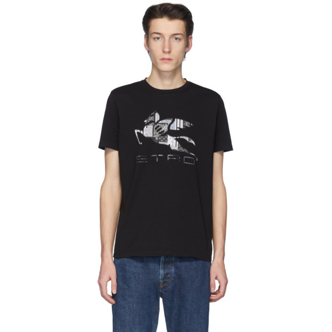 Photo: Etro Black Neutra Logo T-Shirt