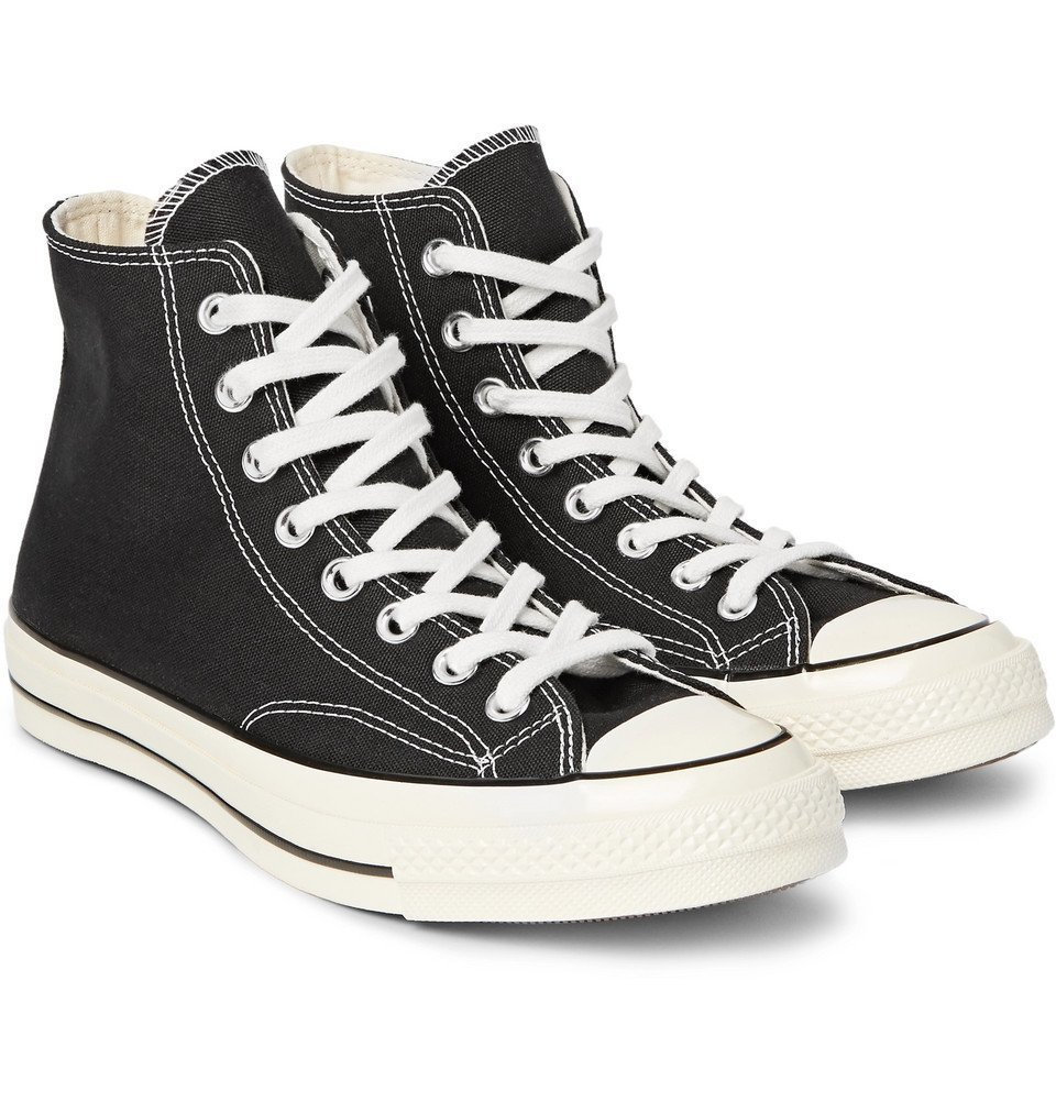 Photo: Converse - 1970s Chuck Taylor All Star Canvas High-Top Sneakers - Black