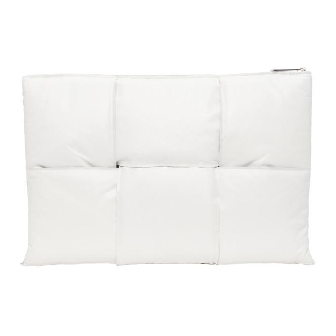 Photo: Bottega Veneta Off-White Padded Intrecciato Pouch