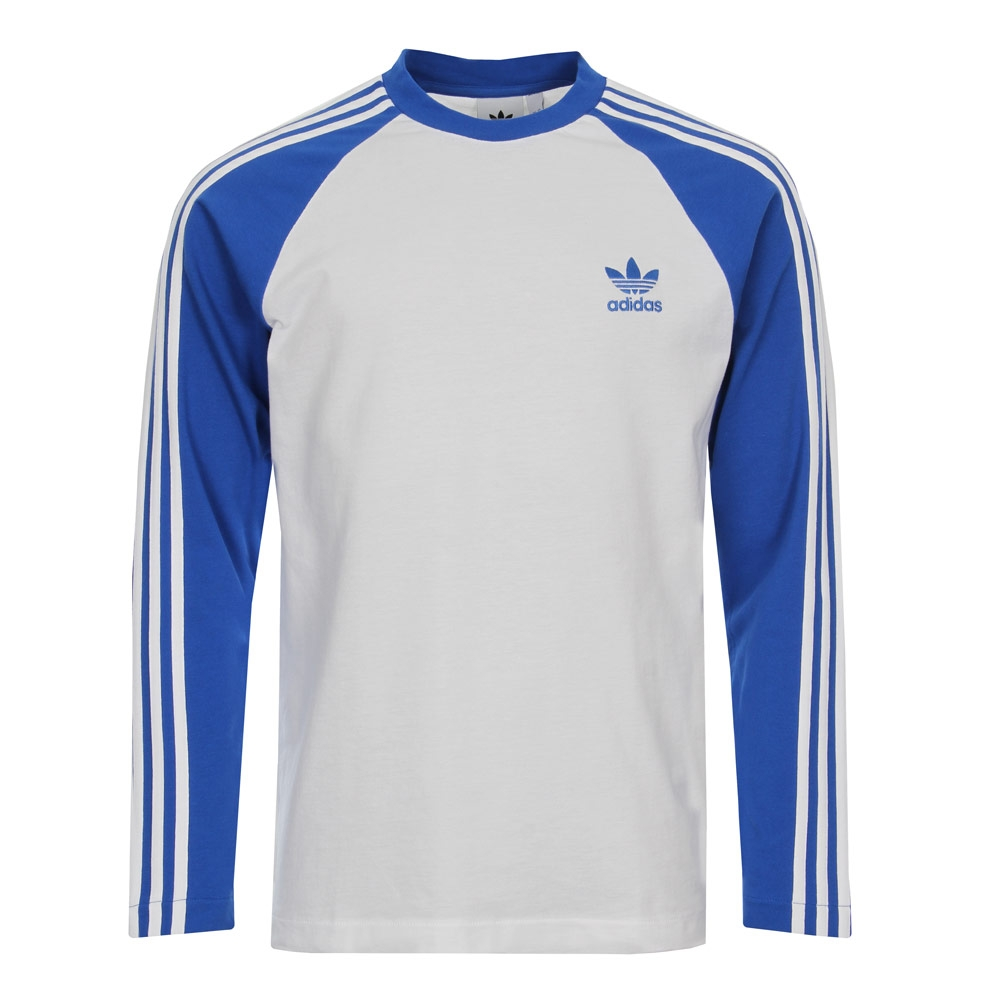 3 Stripe T-Shirt - White / Blue