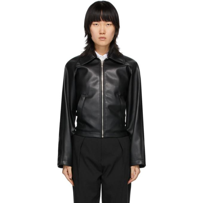 Photo: We11done Black Faux Leather Jacket