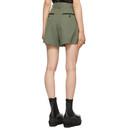 Sacai Khaki Suiting Pleated Shorts