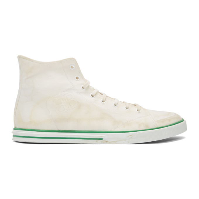 Photo: Balenciaga White Matches High-Top Sneakers