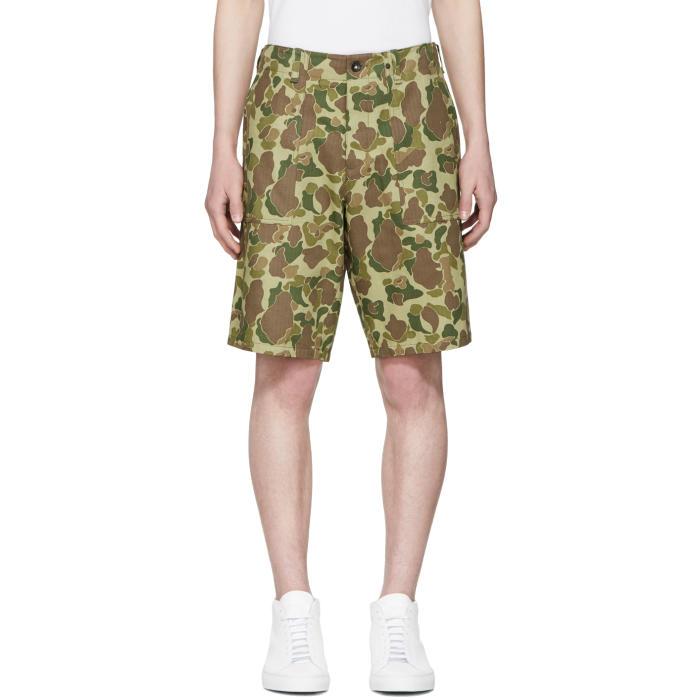 Photo: Rag and Bone Green Camo Field Shorts