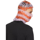 Raf Simons Pink and Orange Hand-Knit Balaclava