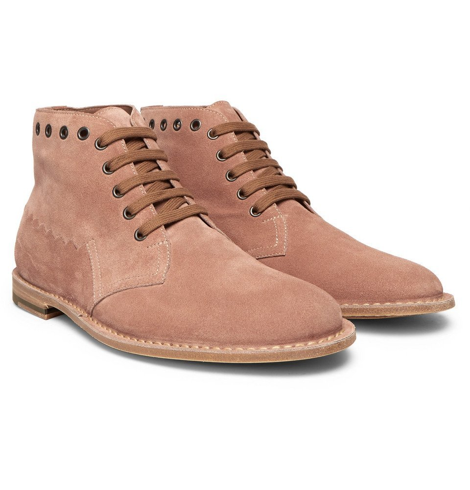 Photo: Bottega Veneta - Suede Desert Boots - Men - Blush