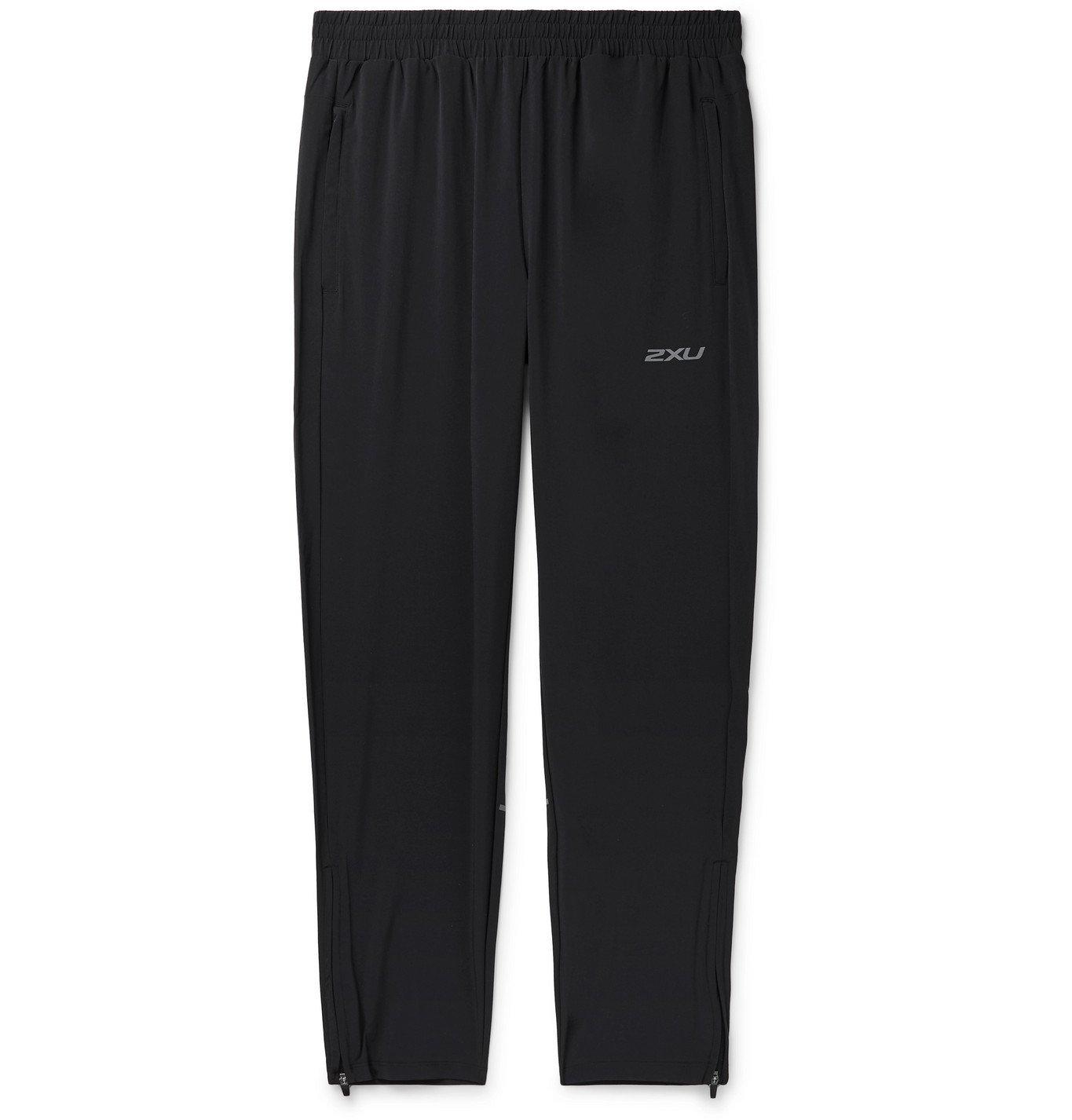 Photo: 2XU - XVENT Tapered Mesh-Panelled Tech-Jersey Sweatpants - Black