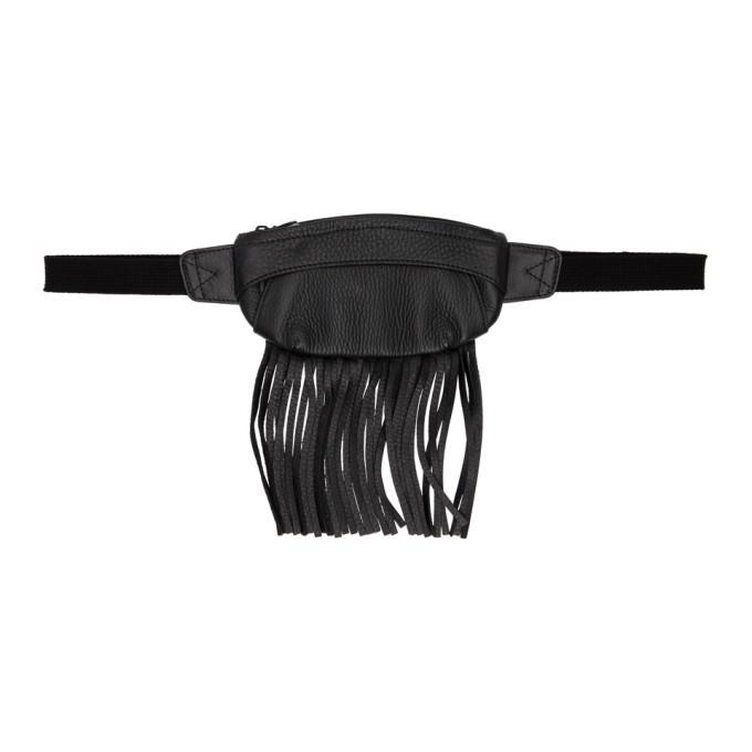 Photo: Sasquatchfabrix. Black Leather Fringe Waist Pouch
