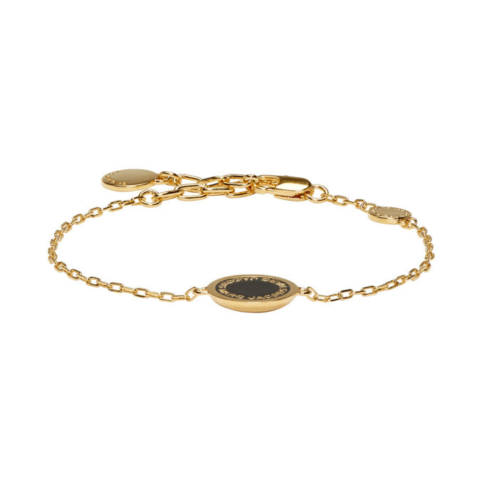 267e822eb4738 Marc Jacobs Gold Enamel Logo Disc Bracelet Marc Jacobs
