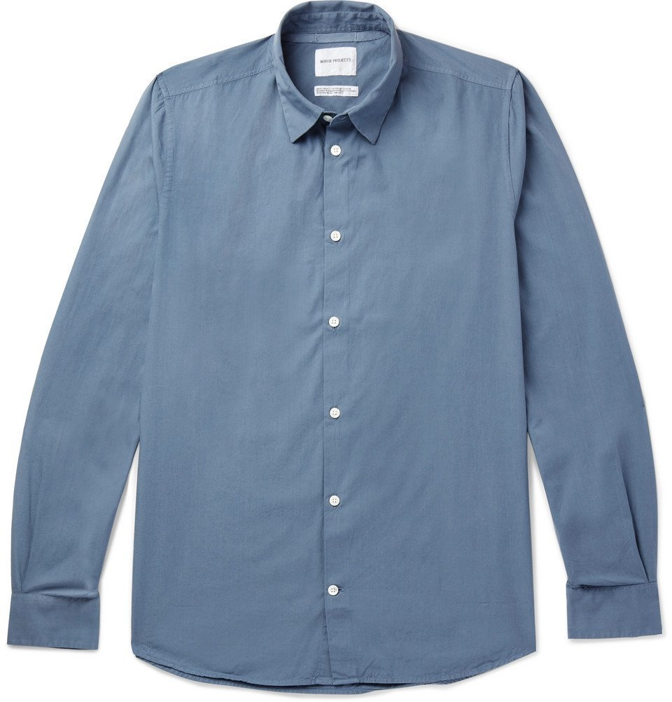51e191dc244 Photo  Norse Projects - Hans Organic Cotton-Poplin Shirt - Men - Blue