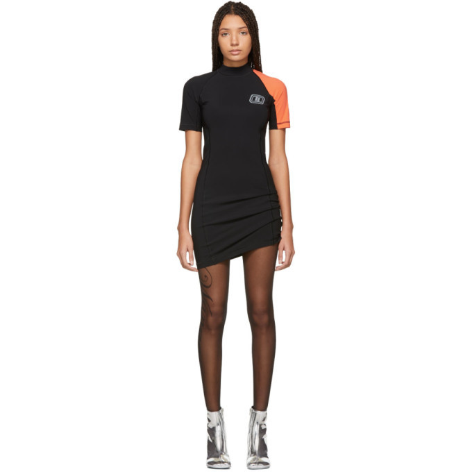 alexanderwang.t Black and Orange Swim Dress