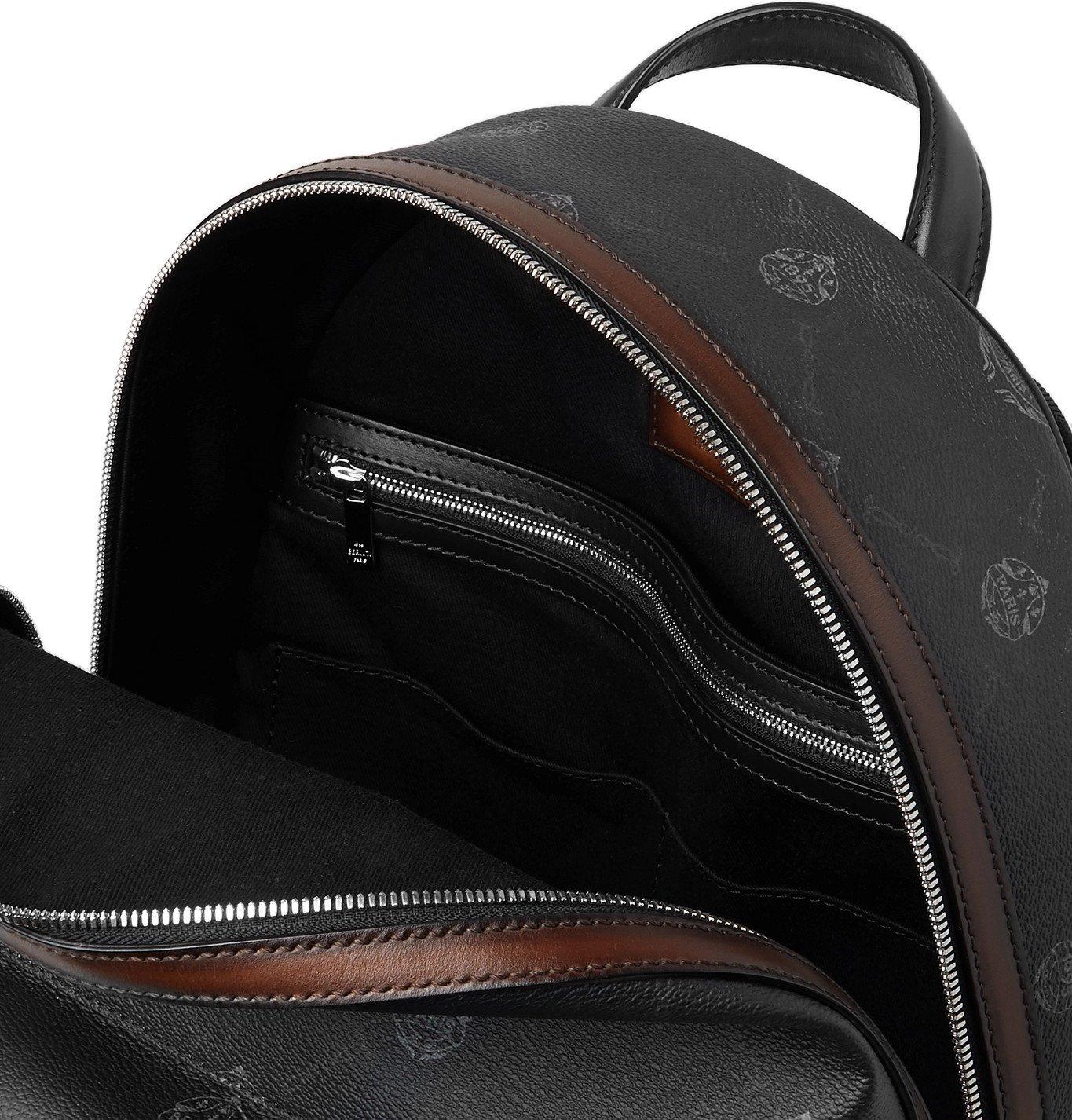 Berluti - Explorer Logo-Print Leather Backpack - Gray
