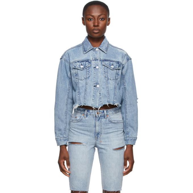 Ksubi Blue Daggerz Crop Jacket