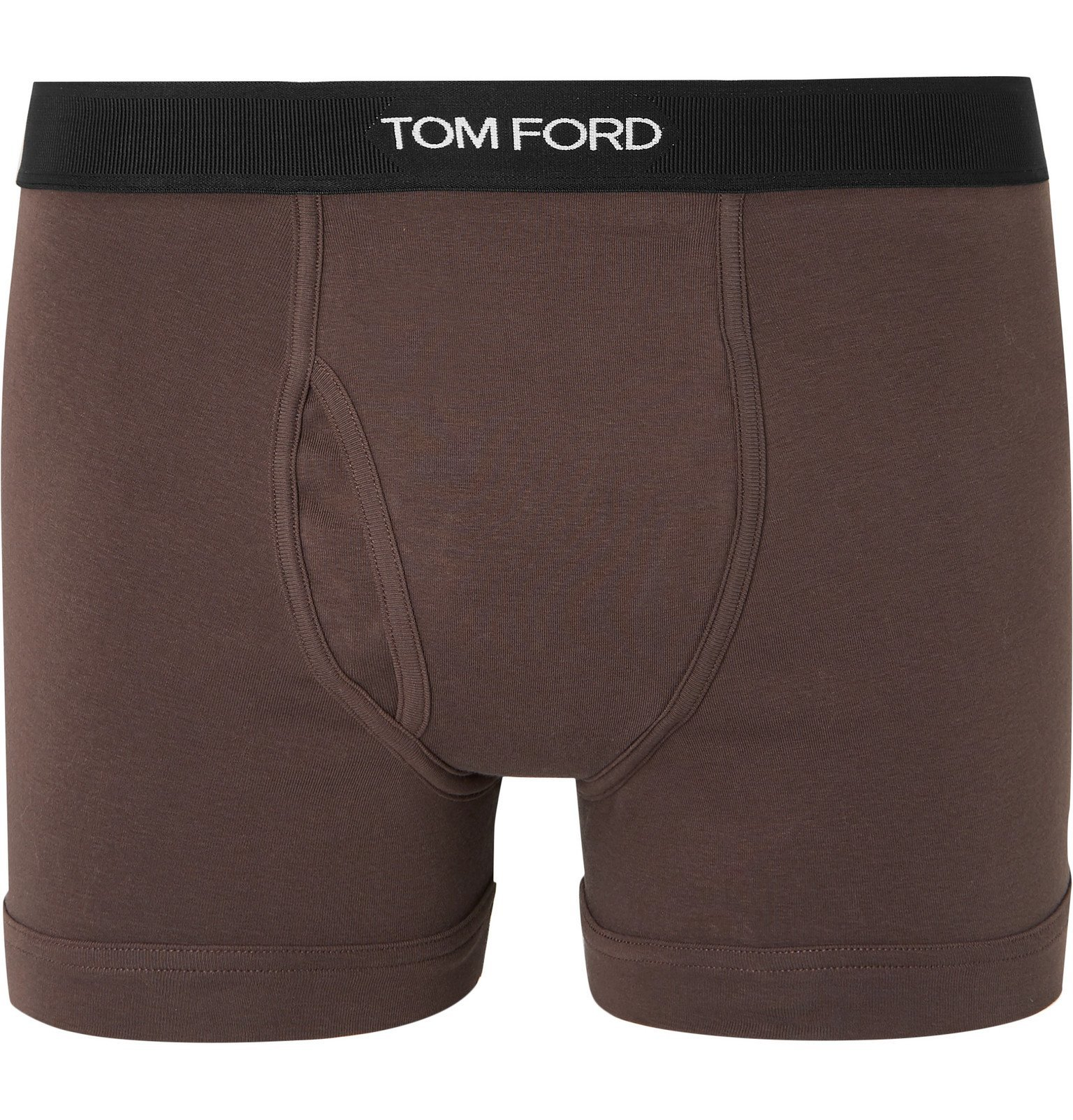 Photo: TOM FORD - Stretch-Cotton Boxer Briefs - Brown