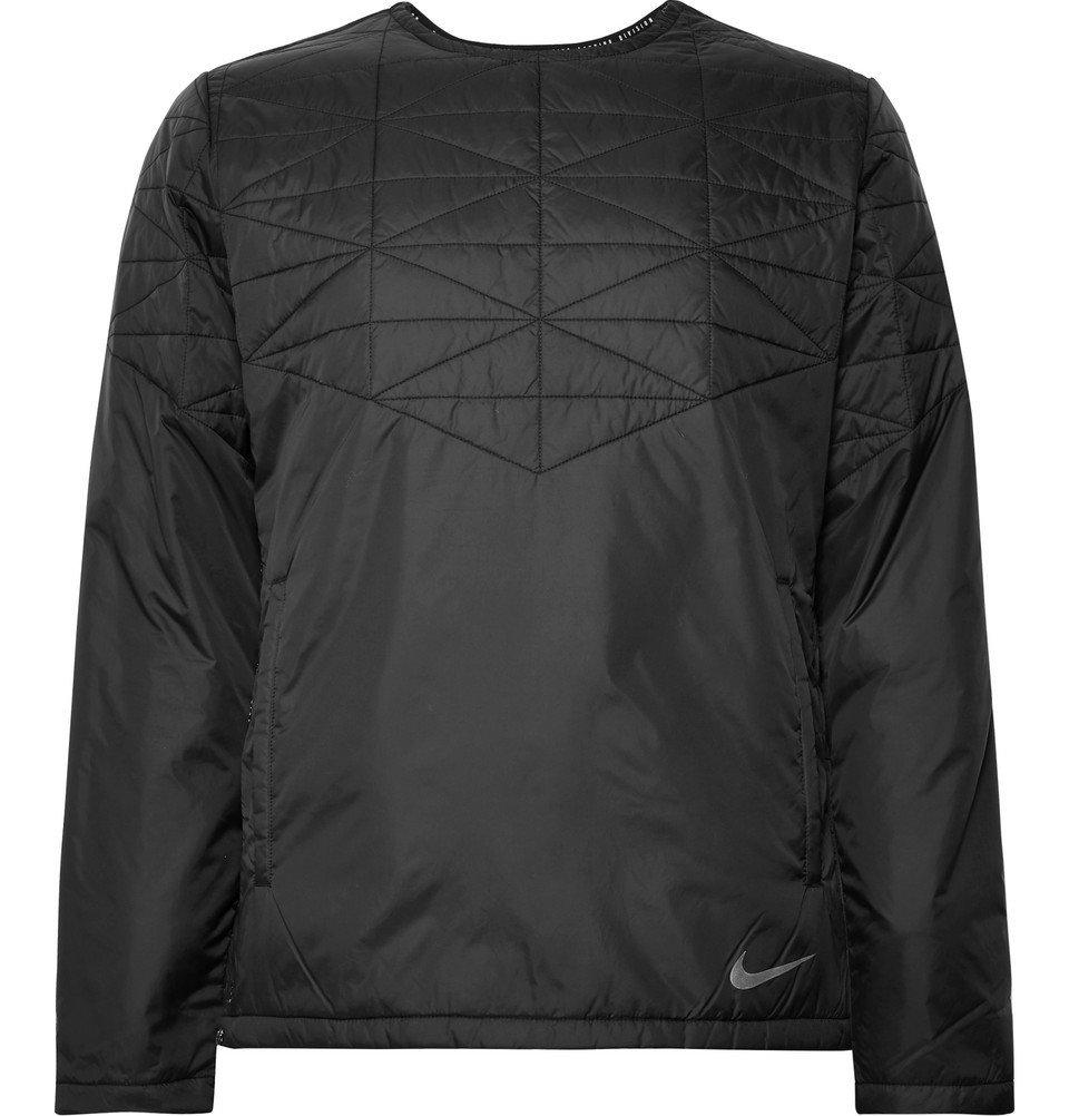 Nike Running - Quilted Waterproof Shell Jacket - Men - Black