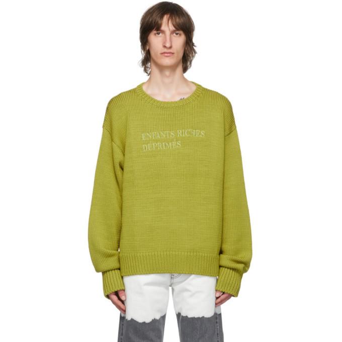 Photo: Enfants Riches Deprimes Green Classic Logo Sweater