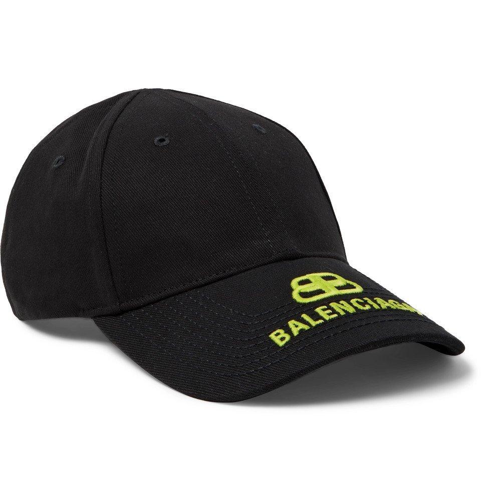 Photo: Balenciaga - Logo-Embroidered Cotton-Twill Baseball Cap - Black