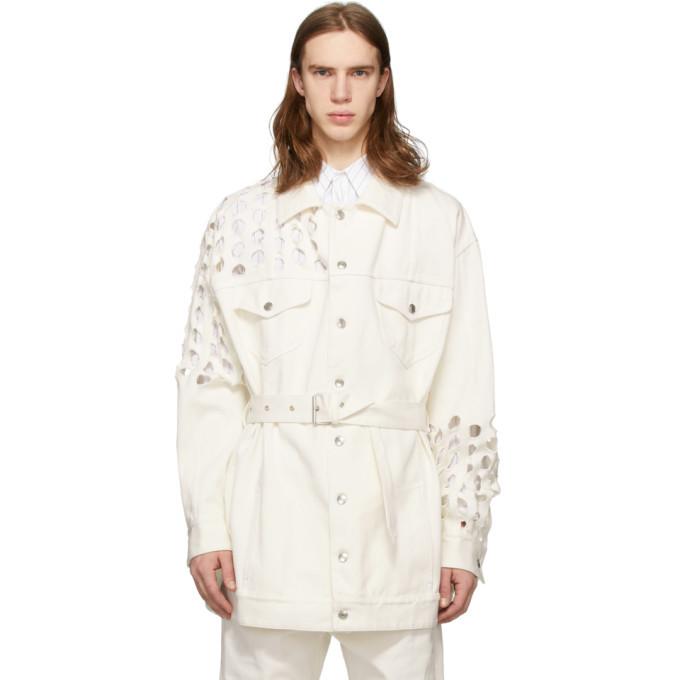 Photo: Maison Margiela White Cotton Bull Coat