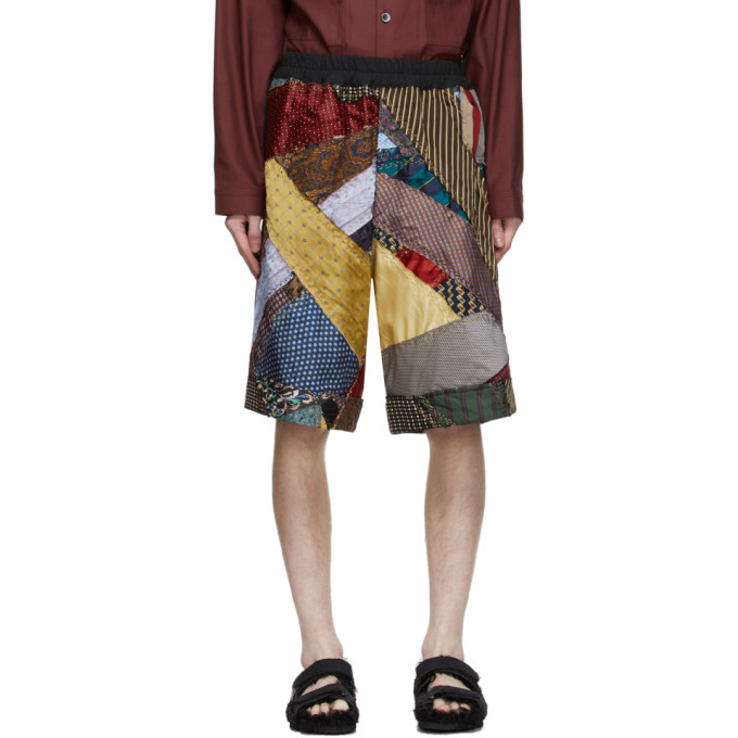 Photo: By Walid Multicolor Silk Tie Story Lesley Shorts