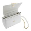 3.1 Phillip Lim White Croc Alix Soft Chain Bag