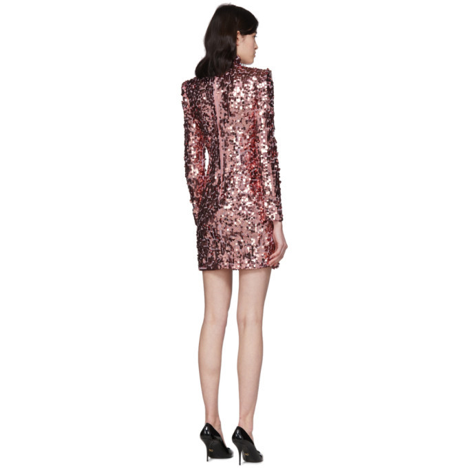Dolce and Gabbana Pink Spangle Turtleneck Dress
