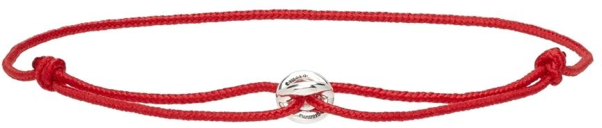 Photo: Le Gramme Red 'Le 1 Gramme' Cord Bracelet