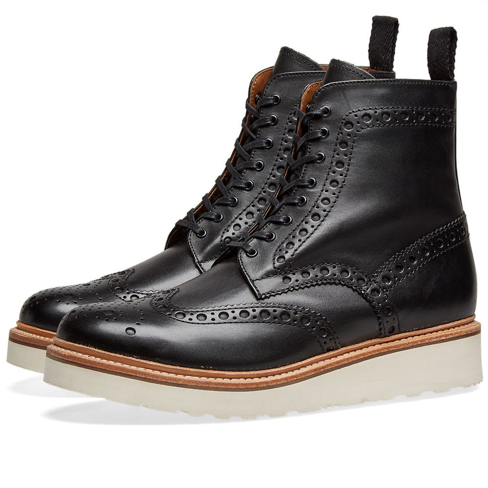 Photo: Grenson Fred V Brogue Boot Black