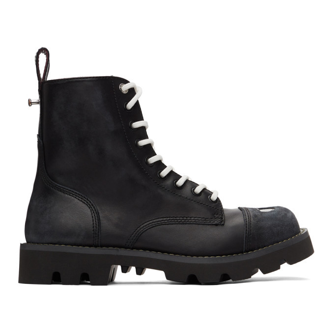 Photo: Diesel Black D-Konba Combat Boots