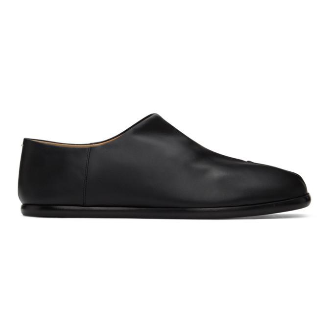 Photo: Maison Margiela Black Tabi Babouche Loafers