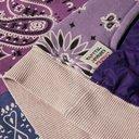 KAPITAL - Bandana-Print Fleece-Back Cotton-Jersey and Quilted Shell Sweatshirt - Purple