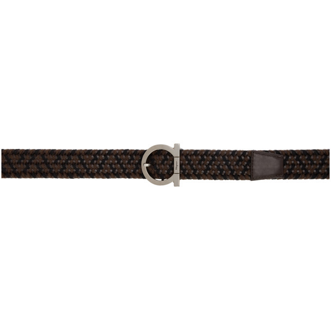 Photo: Salvatore Ferragamo Brown Braided Gancini Belt