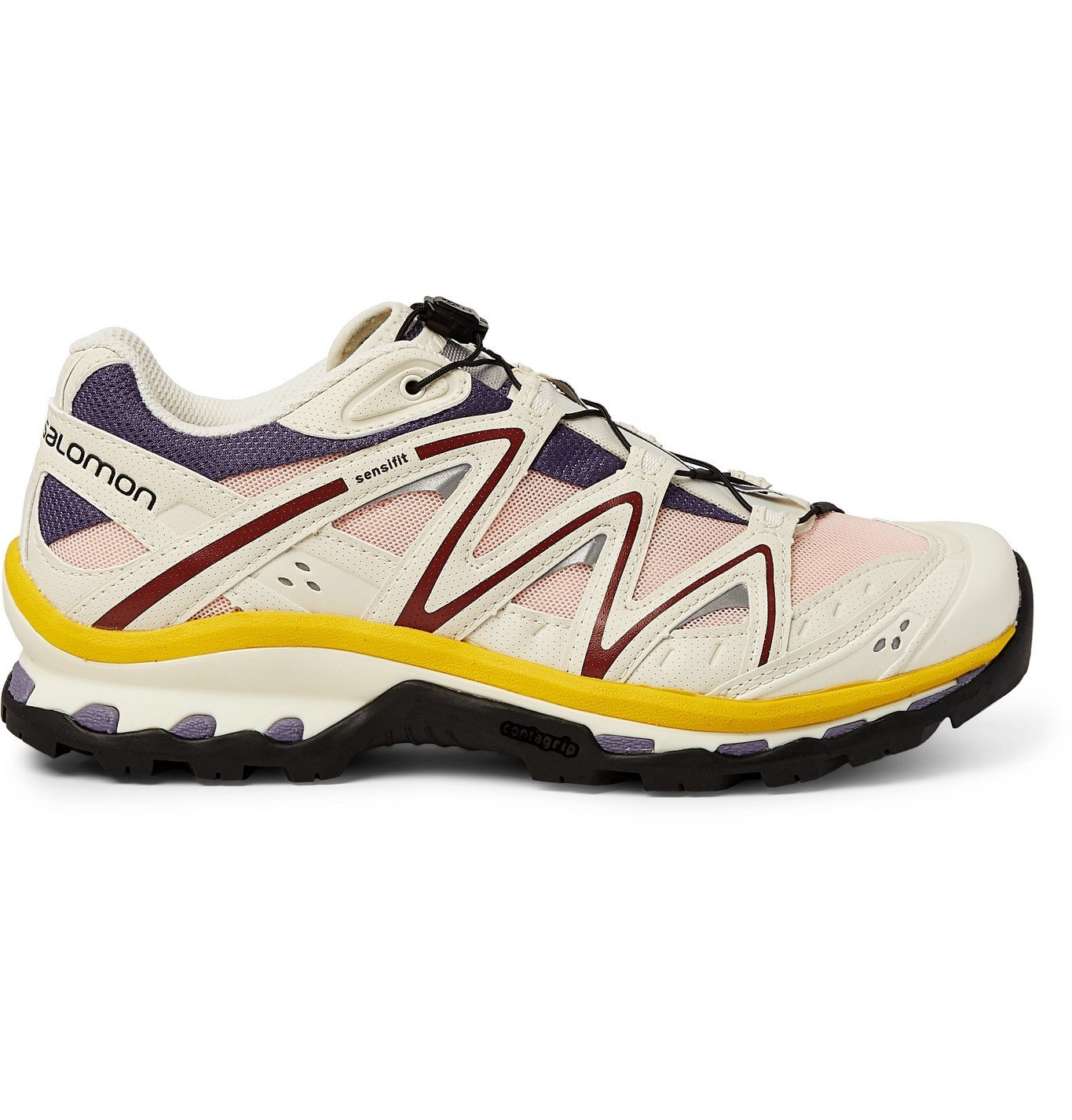 Photo: Salomon - XT-QUEST ADV Rubber and Mesh Running Sneakers - White