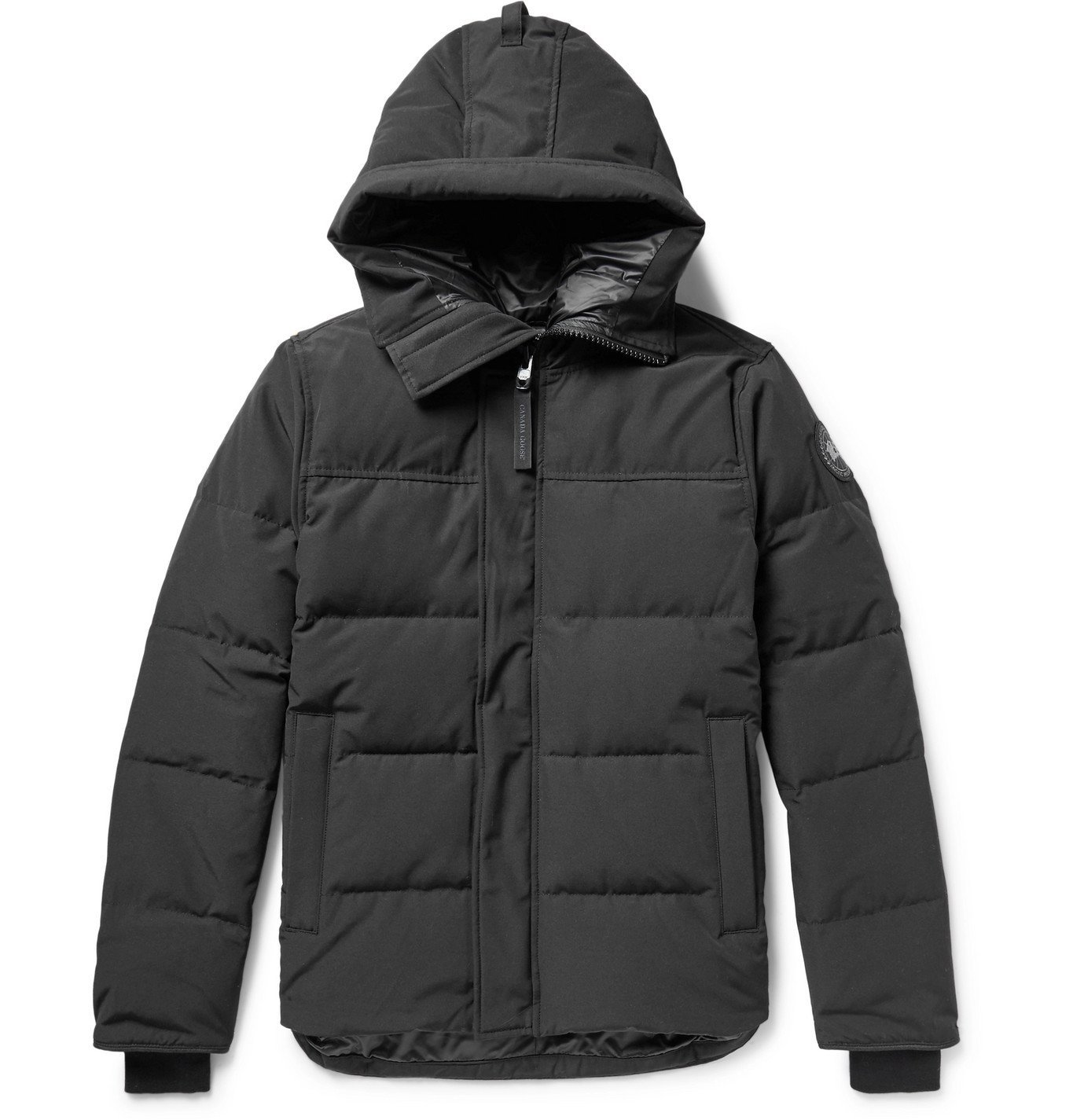 Photo: Canada Goose - Black Label Macmillan Quilted Shell Hooded Down Parka - Black
