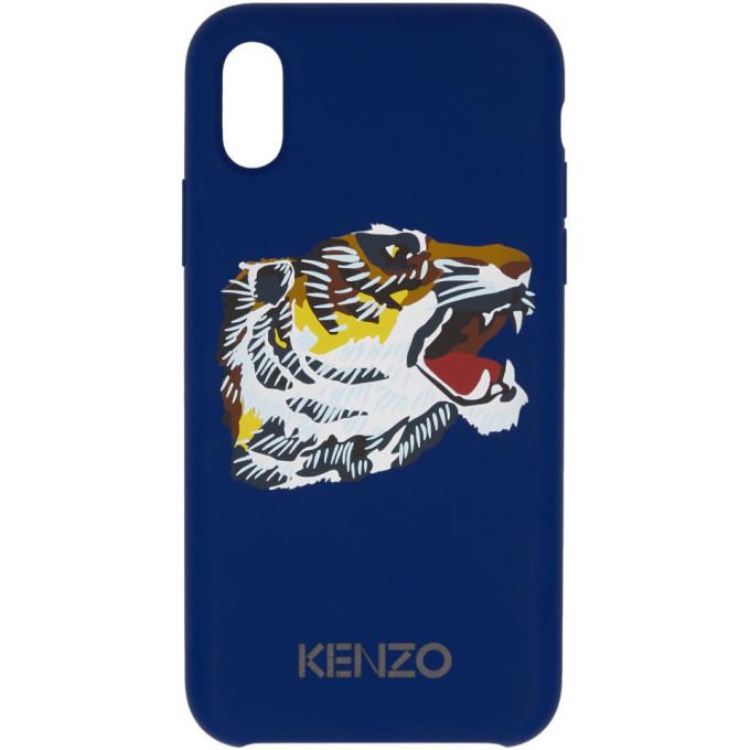 Photo: Kenzo Blue Tiger Head iPhone X Case