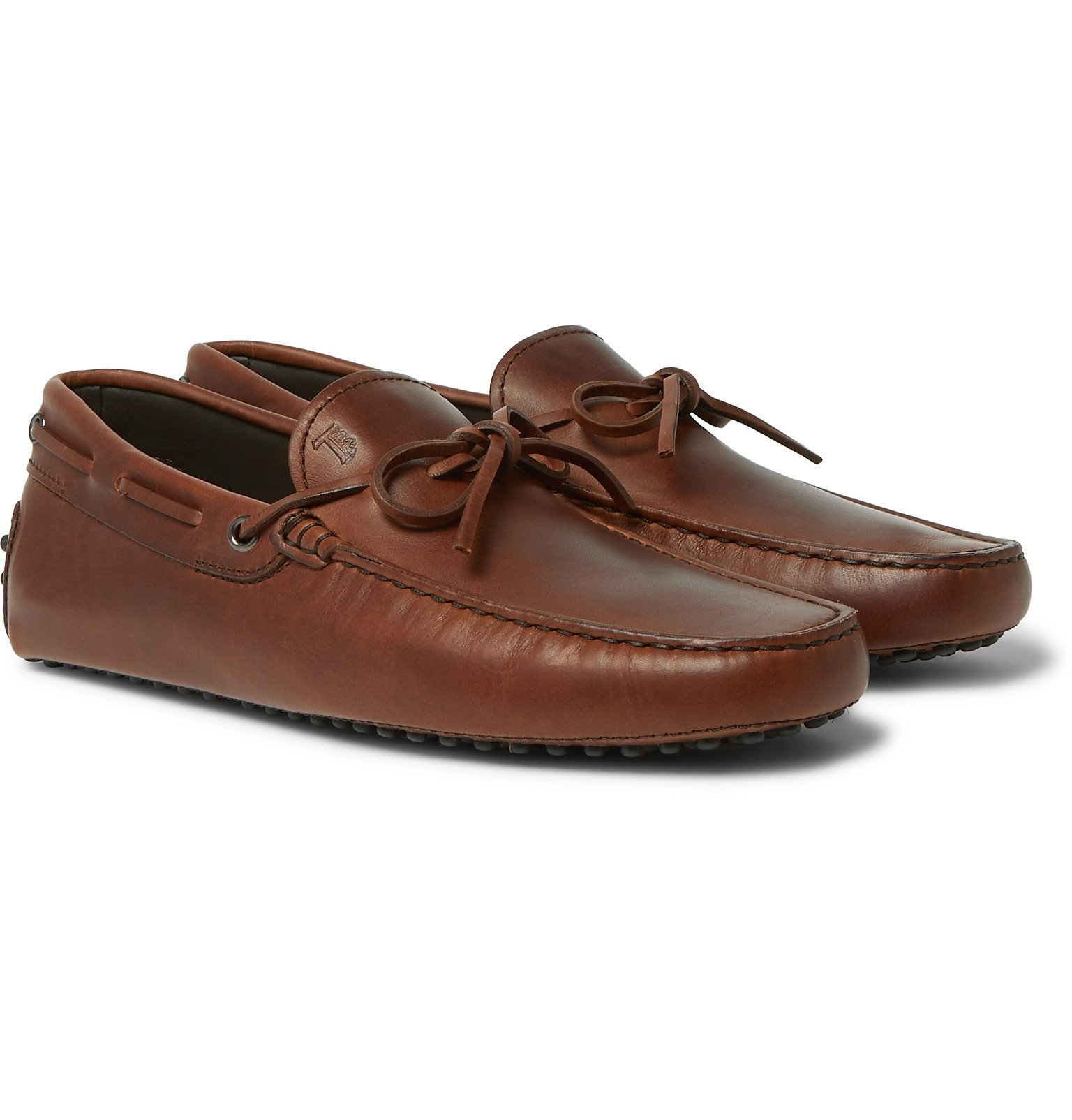 Tod's - Leather Driving Shoes - Brown