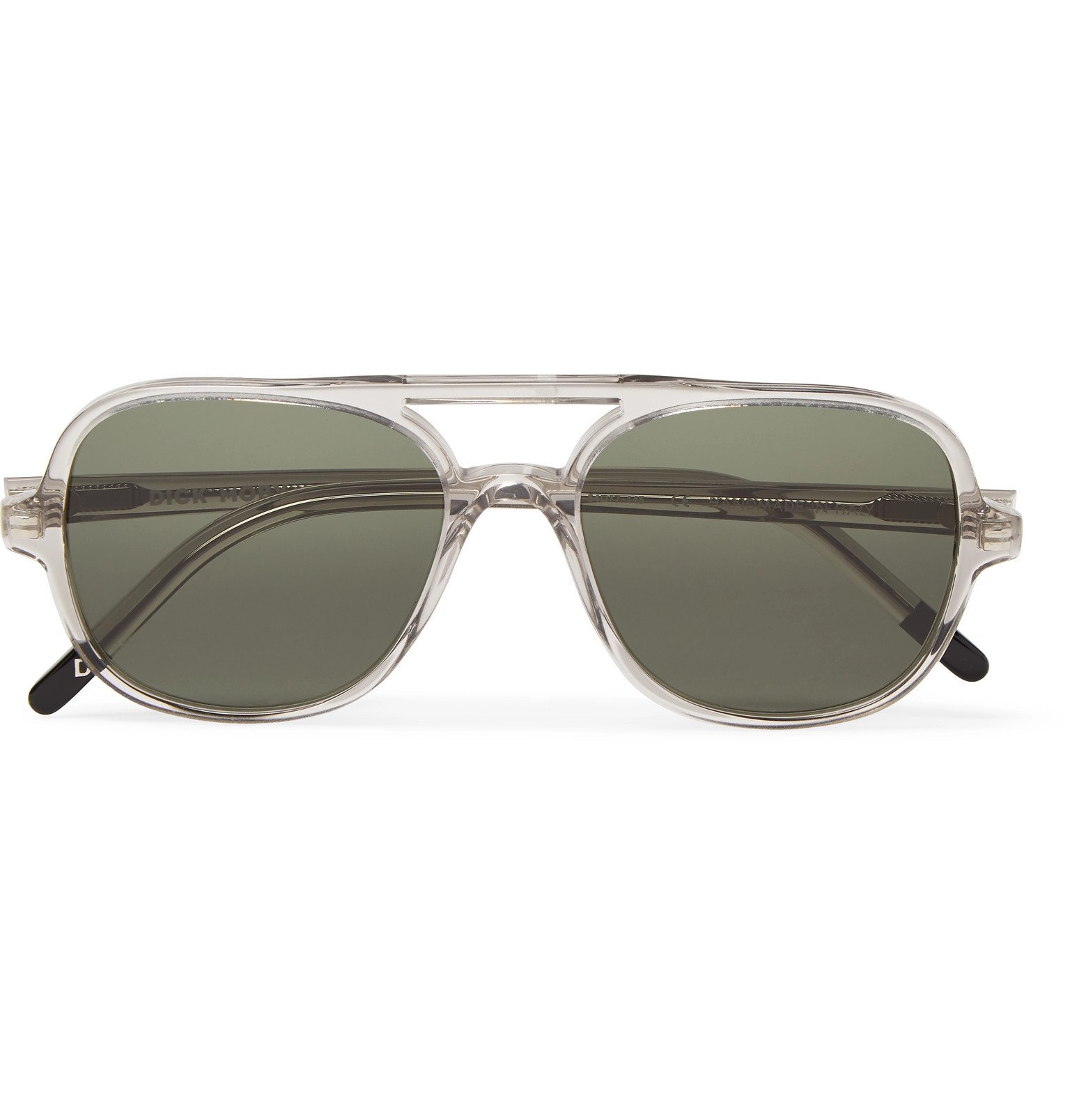 Photo: Dick Moby - Hannover Aviator-Style Acetate Sunglasses - Neutrals