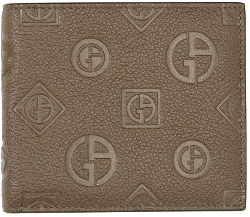 Photo: Giorgio Armani Brown Embossed Logo Bifold Wallet