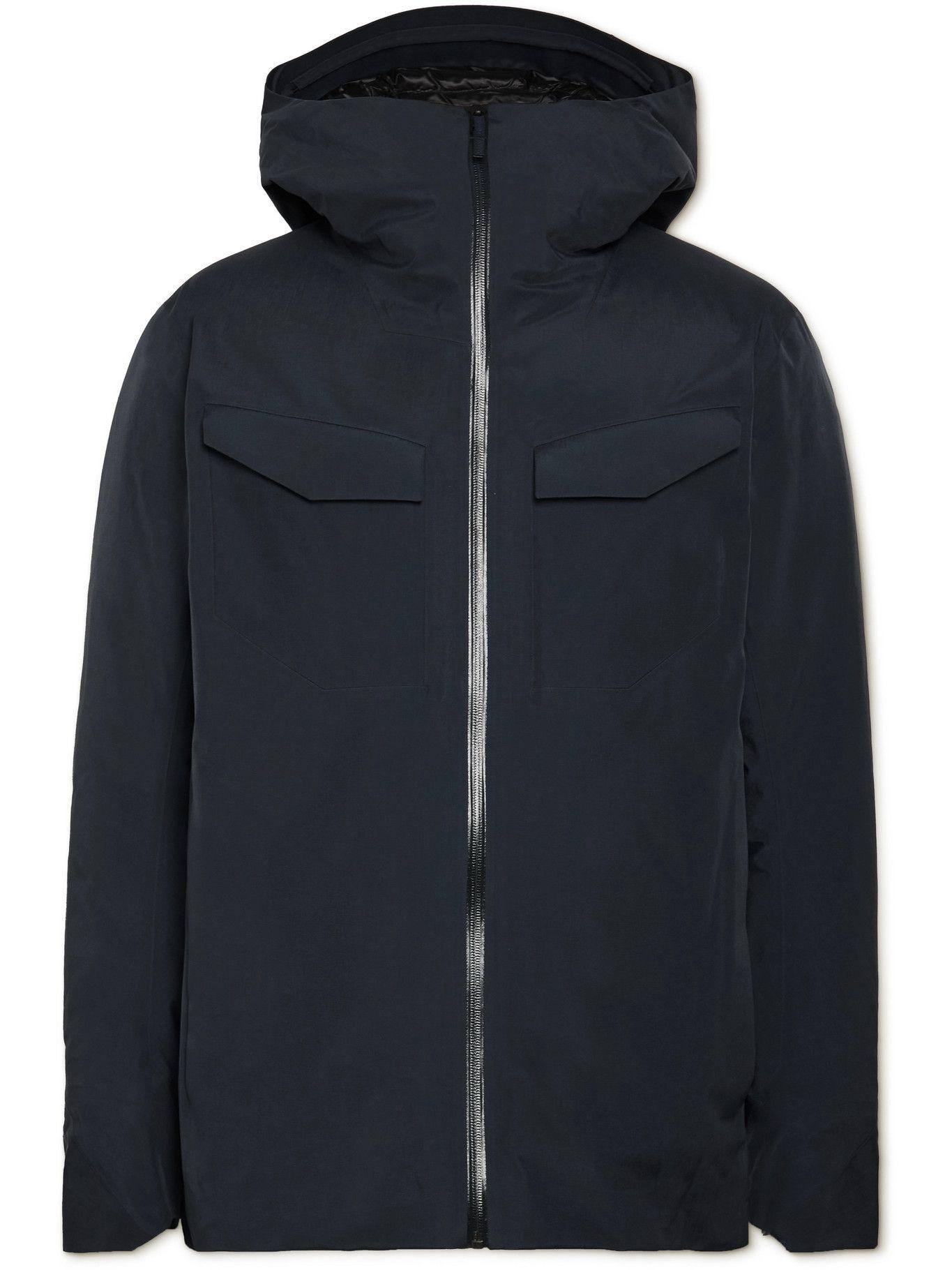 Photo: Veilance - Node GORE-TEX Shell Hooded Down Jacket - Blue