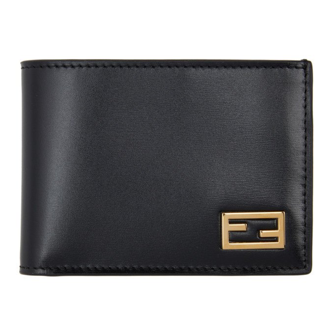 Photo: Fendi Black Baguette Bifold Wallet