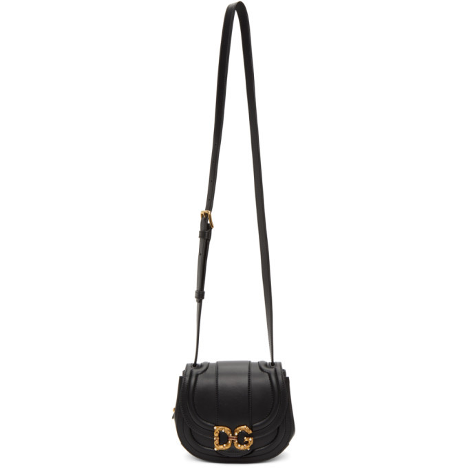 Photo: Dolce and Gabbana Black Small DG Amore Bag