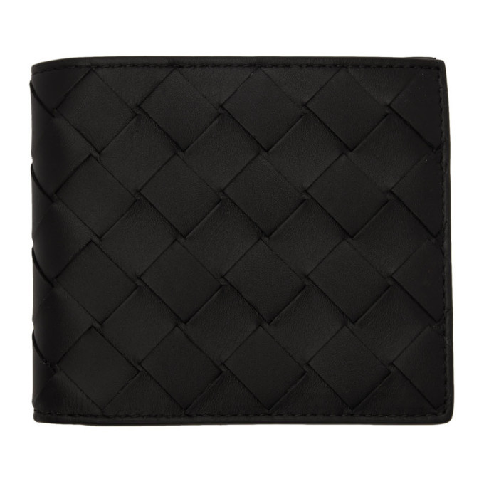 Photo: Bottega Veneta Black Intrecciato Wallet
