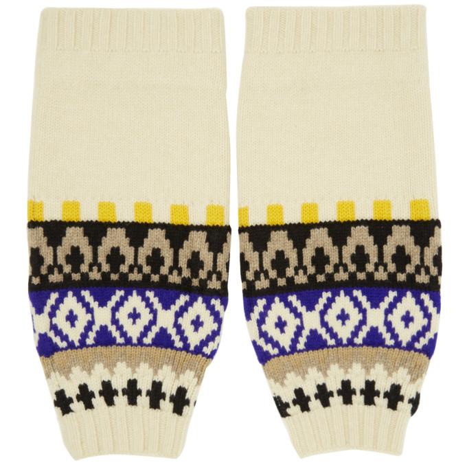 Photo: Maison Margiela Off-White Wool Knit Sleeves