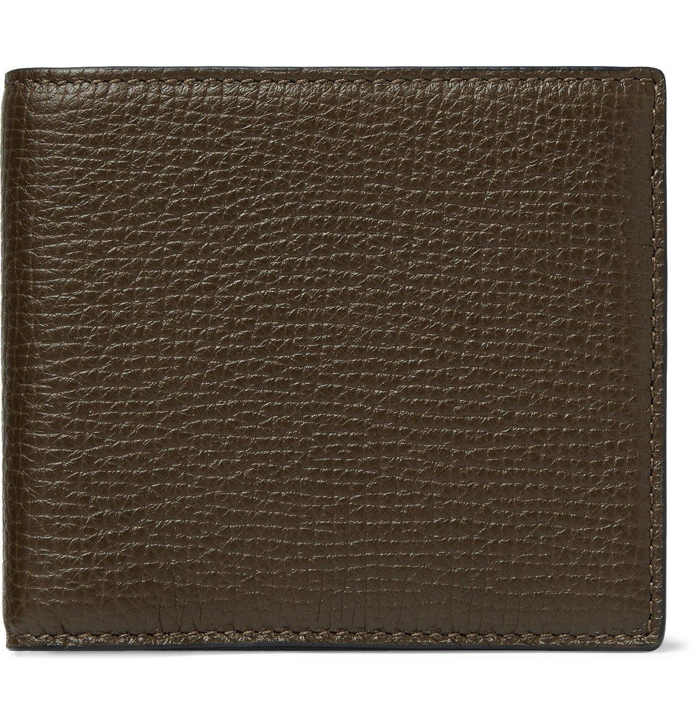 Smythson - Full-Grain Leather Billfold Wallet - Green