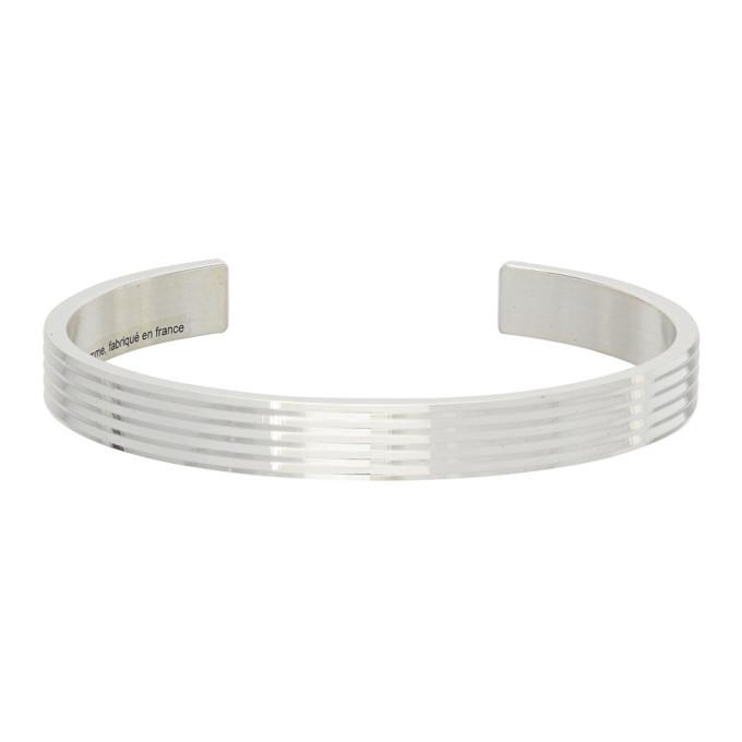 Photo: Le Gramme Silver Polished Guilloche Le 23 Grammes Ribbon Bracelet