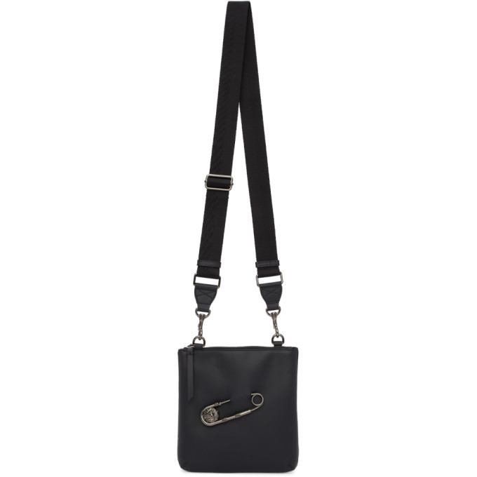 Photo: Versus Black Safety Pin Messenger Bag